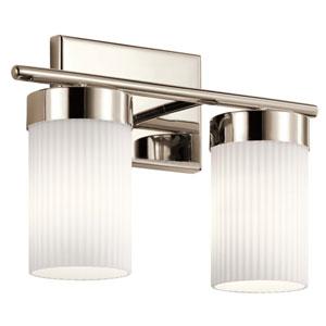 Ciona Polished Nickel Two-Light Bath Vanity