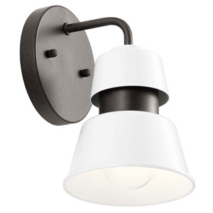 Lozano White Eight-Inch One-Light Outdoor Wall Sconce