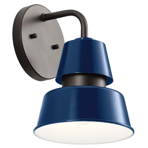 Lozano Catalina Blue 10-Inch One-Light Outdoor Wall Sconce