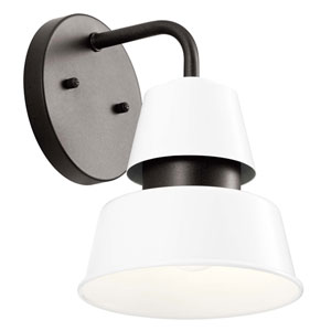 Lozano White 10-Inch One-Light Outdoor Wall Sconce