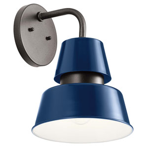 Lozano Catalina Blue 13-Inch One-Light Outdoor Wall Sconce