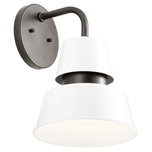 Lozano White 13-Inch One-Light Outdoor Wall Sconce