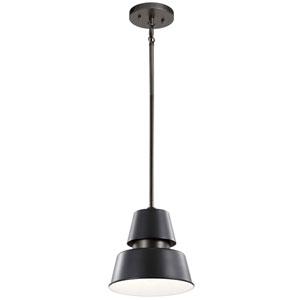 Lozano Black One-Light Outdoor Pendant