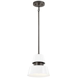 Lozano White One-Light Outdoor Pendant