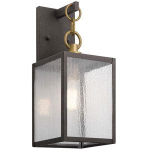 Lahden Weathered Zinc 12-Inch One-Light Outdoor Wall Sconce