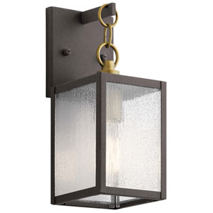 Lahden Weathered Zinc 17-Inch One-Light Outdoor Wall Sconce