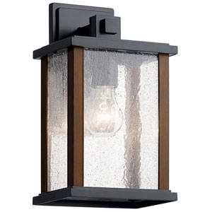 Marimount Black 13-Inch One-Light Outdoor Wall Sconce