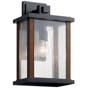 Marimount Black 17-Inch One-Light Outdoor Wall Sconce