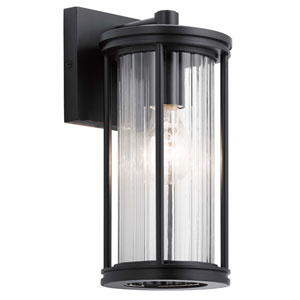 Barras Black 12-Inch One-Light Outdoor Wall Sconce