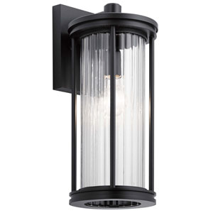 Barras Black 16-Inch One-Light Outdoor Wall Sconce