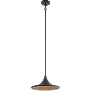 Elias Textured Black 14-Inch LED Outdoor Pendant
