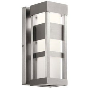 Ryler Brushed Aluminum Five-Inch LED Outdoor Wall Sconce