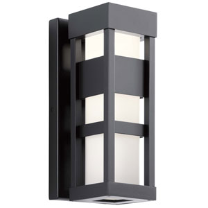 Ryler Black Five-Inch LED Outdoor Wall Sconce