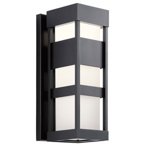 Ryler Black Seven-Inch LED Outdoor Wall Sconce