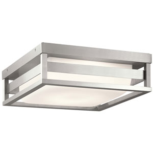 Ryler Brushed Aluminum LED Outdoor Flushmount