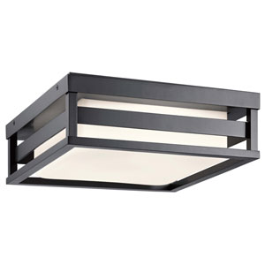 Ryler Black LED Outdoor Flushmount