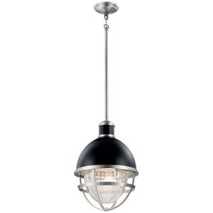 Tollis Black One-Light Outdoor Pendant