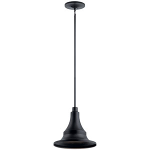 Hampshire Textured Black 16-Inch One-Light Outdoor Pendant