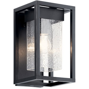Mercer Black with Silver Highlights One-Light Outdoor Wall Mount