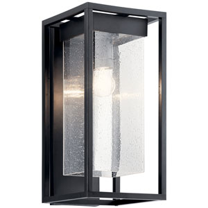 Mercer Black with Silver Highlights Nine-Inch One-Light Outdoor Wall Mount