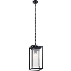 Mercer Black with Silver Highlights One-Light Outdoor Pendant
