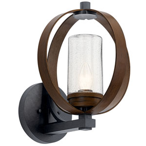 Grand Bank Auburn Stained Finish 12-Inch One-Light Outdoor Wall Mount