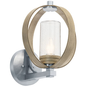 Grand Bank Distressed Antique Gray 12-Inch One-Light Outdoor Wall Mount