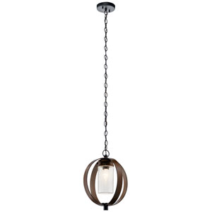 Grand Bank Auburn Stained Finish One-Light Outdoor Pendant