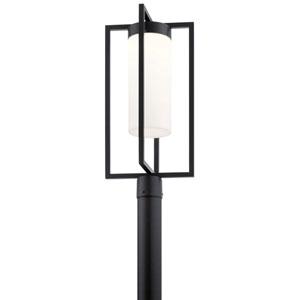 Drega Black LED Outdoor Post Lantern