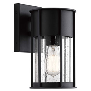 Camillo Textured Black One-Light Outdoor Wall Mount