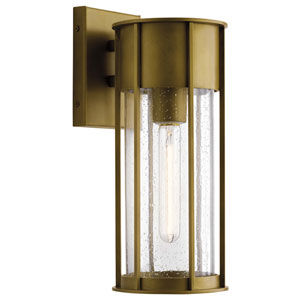 Camillo Natural Brass Six-Inch One-Light Outdoor Wall Mount