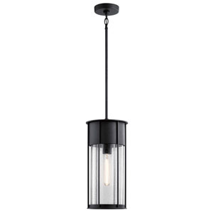 Camillo Textured Black One-Light Outdoor Pendant