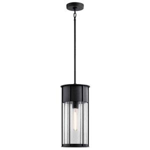 Camillo Textured Black One-Light Outdoor Pendant