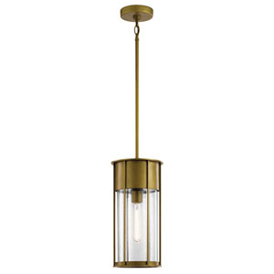 Camillo Natural Brass One-Light Outdoor Pendant