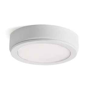 6D Series Textured White 24V DC 3000K LED Undercabinet Puck Light