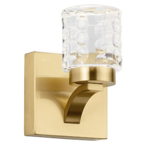 Rene Champagne Gold Five-Inch LED Wall Sconce