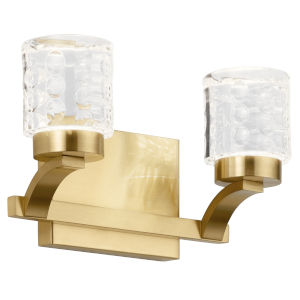 Rene Champagne Gold 12-Inch Two-Light LED Bath Vanity