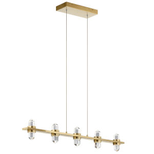 Arabella Champagne Gold Two-Inch 10-Light LED Mini Chandelier