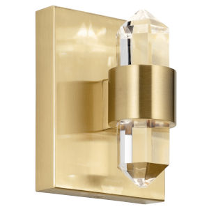 Arabella Champagne Gold Five-Inch Two-Light LED Wall Sconce