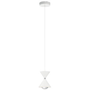 Kordan Matte White Six-Inch LED Mini Pendant