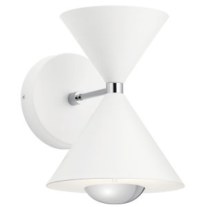 Kordan Matte White Eight-Inch LED Wall Sconce