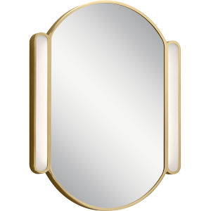 Sorno Champagne Gold 23-Inch LED Wall Mirror