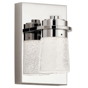 Vada Polished Nickel Five-Inch LED Wall Sconce
