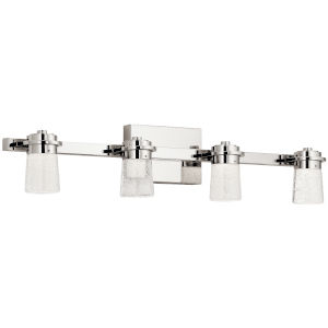 Vada Polished Nickel 31-Inch Four-Light LED Bath Vanity