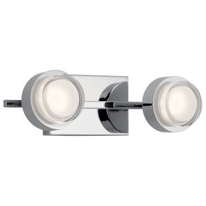 Harlaw Chrome 15-Inch Two-Light LED Bath Vanity