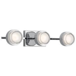 Harlaw Chrome 22-Inch Three-Light LED Bath Vanity