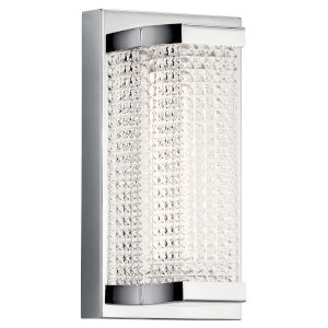 Ammiras Chrome Five-Inch LED Wall Sconce