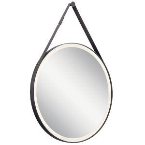 Martell Matte Black 28-Inch LED Wall Mirror
