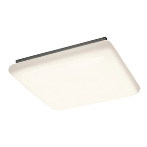White Four-Light Ceiling Mount Fluorescent Light