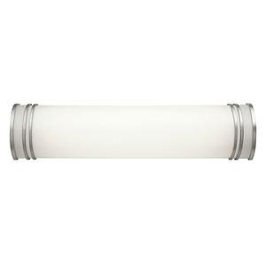 White 24-Inch Two-Light Fluorescent Bath Vanity Fixture